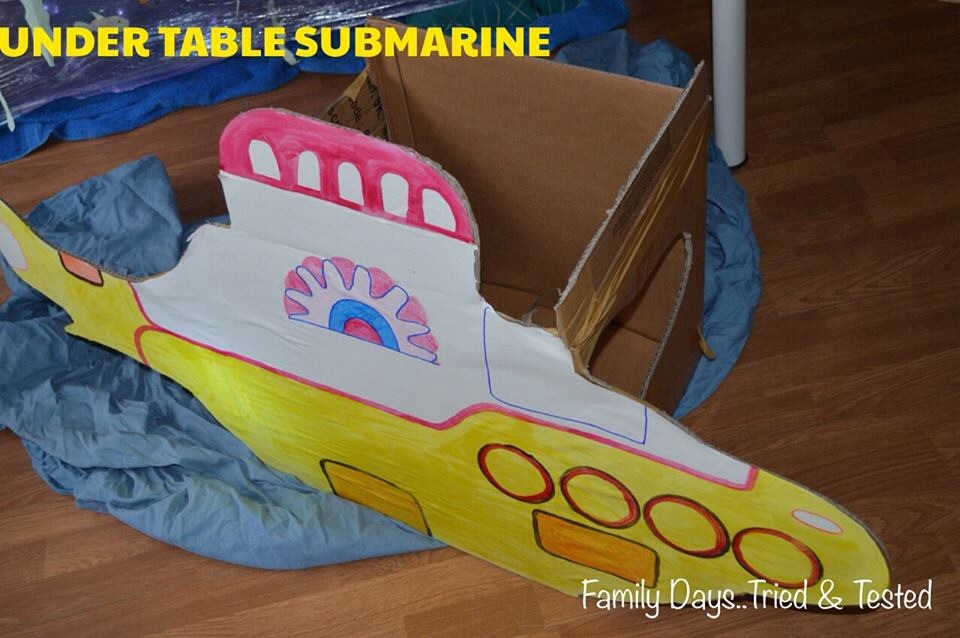 under table submarine