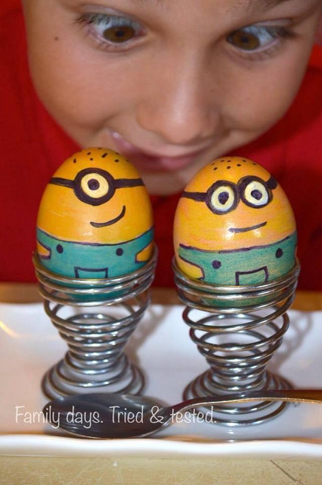 Minions boiled eggs